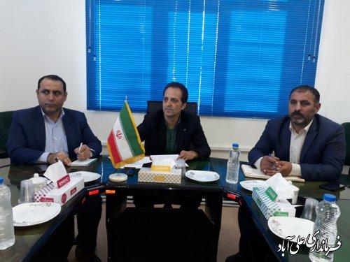 جلسه کمیسیون برنامه ریزی، هماهنگی و نظارت بر قاچاق کالا و ارز علی آباد کتول برگزار شد