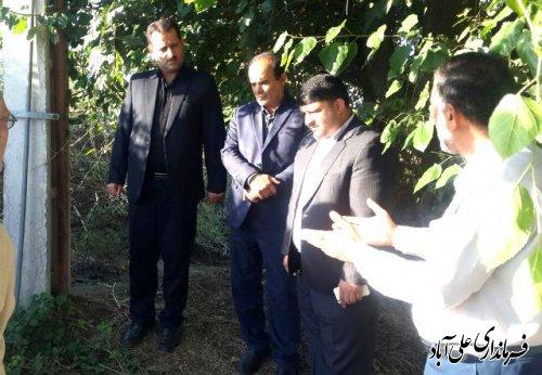 بازدید فرماندار علی آباد کتول از روستای حاجی آباد