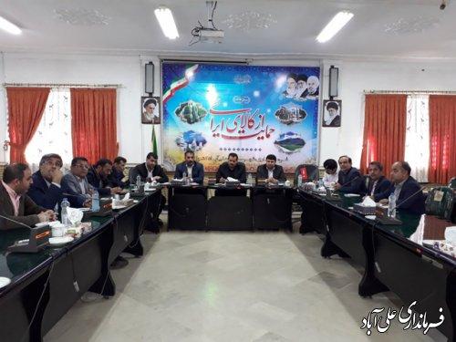 جلسه ساخت و ساز غیر مجاز  با حضور فرماندارعلی آباد کتول برگزارشد