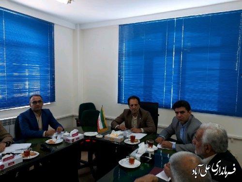 جلسه ستاد تنظیم بازار شهرستان علی آباد کتول برگزار شد