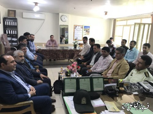 دیدار بخشدار کمالان و دهیار های بخش فرماندهی انتظامی فاضل آباد