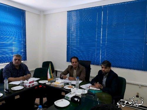 جلسه شورای پدافند غیر عامل شهرستان علی آباد کتول برگزار شد