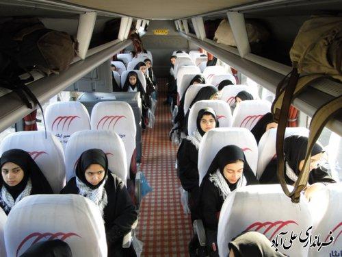 اعزام کاروان راهیان نور علی آباد کتول به مناطق عملیاتی غرب کشور