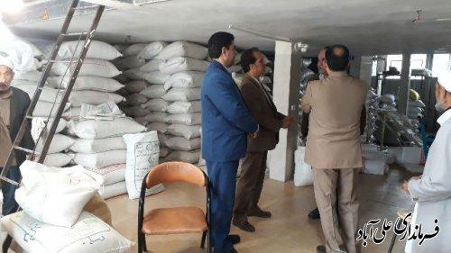 بازدید معاون سیاسی امنیتی واجتماعی فرمانداری علی آبادکتول از فروشگاه های شهرستان