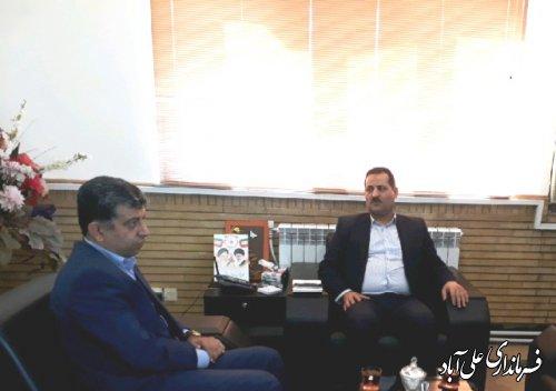 دیدار مدیر میراثفرهنگی با فرماندار علی آباد کتول