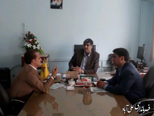 بازدید سرزده معاون سیاسی امنیتی و اجتماعی فرمانداری علی آباد کتول از ادارات