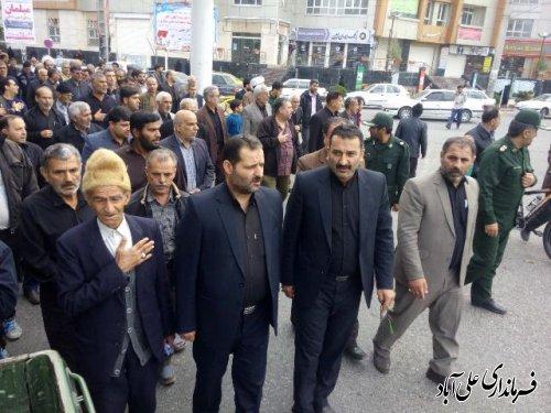 آیین تشییع پیکر جانبازدفاع مقدس در علی آباد کتول