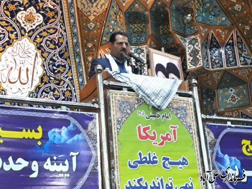 همایش بزرگ وحدت و گرامی داشت هفته بسیج در علی آباد کتول برگزار شد