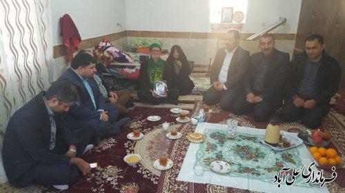 دیدار با خانواده معزز شهدای والامقام سیدحسین حسینی ساوری و رمضان منتظری