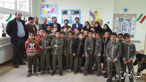 حضور فرماندار در کانون پرورش فکری کودکان و نوجوانان شهرستان علی آبادکتول