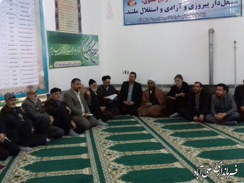 افتتاح متمرکز پروژه های بخشداری کمالان