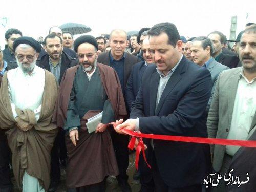 افتتاح متمرکز پروژه های عمرانی و تولیدی جهادکشاورزی شهرستان علی آبادکتول