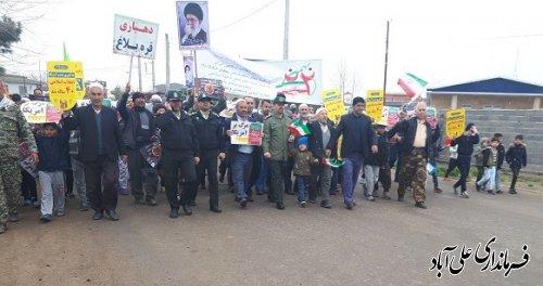 حماسه  باشکوه چهلمین سالگرد پیروزی انقلاب اسلامی ایران در روستای قره بلاغ