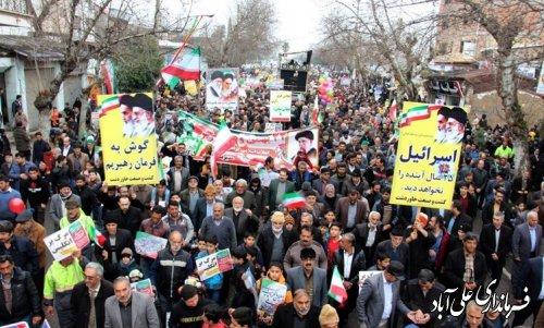 تقدیر فرماندار شهرستان علی آبادکتول از مردم جهت حضور حماسی در راهپیمایی 22 بهمن ماه