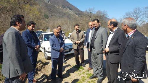 بازدید فرماندار و مدیرعامل شرکت گاز استان از پروژه گاز رسانی به روستاهای دهنه زرین گل