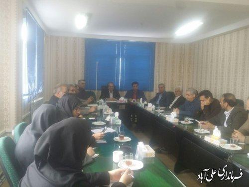 برگزاری جلسه کارگروه فرهنگی و اجتماعی شهرستان علی آبادکتول