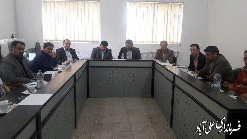 برگزاری جلسه فوق العاده شورای هماهنگی مدیریت بحران شهرستان علی آبادکتول