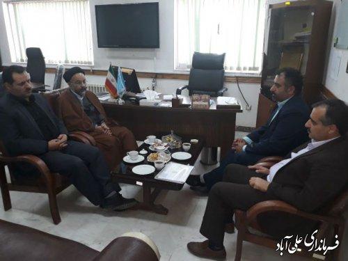 بازدید فرماندار و رئیس کارگروه سلامت و امنیت غذایی شهرستان علی آبادکتول از شبکه بهداشت و درمان