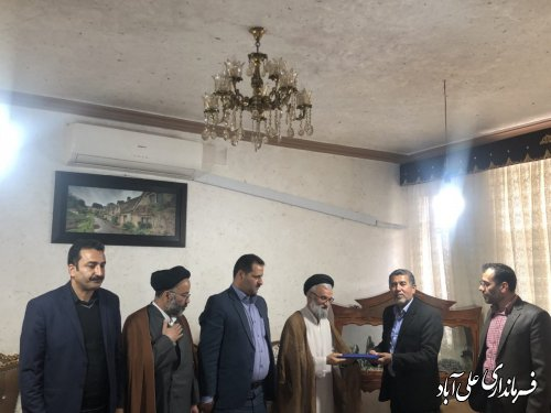 دیدار امام جمعه و فرماندار با سه جانباز گرانقدر شهرستان علی آبادکتول