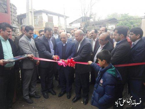 افتتاح متمرکز پروژه های بنیادمسکن انقلاب اسلامی در شهرستان علی آبادکتول