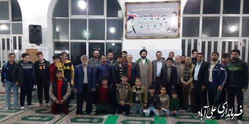 حضور فرماندار در جمع جوانان و نمازگزاران مسجد جامع روستای پیچک محله