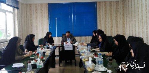 برگزاری جلسه اتاق فکر بانوان شرق استان به میزبانی شهرستان علی آبادکتول