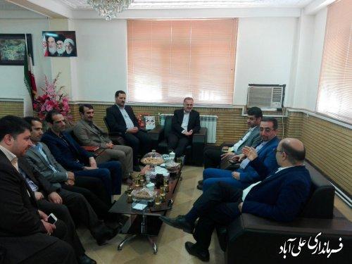 دیدار رئیس سازمان مدیریت استان گلستان با فرماندار شهرستان علی آبادکتول