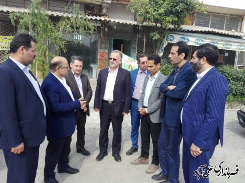 بازدید رئیس سازمان مدیریت و برنامه ریزی و فرماندار از پروژه های عمرانی شهرستان علی آبادکتول