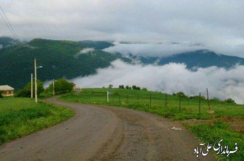 بازگشایی محور روستای میان رستاق