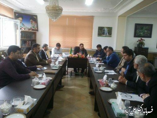 برگزاری جلسه کارگروه آرد و نان شهرستان علی آبادکتول