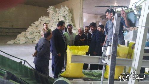 بازدید فرماندار از کارخانجات تولید آرد شهرستان علی آبادکتول