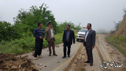 بازدید فرماندار از محور روستای میان رستاق