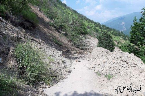 انسداد مجدد محور روستای میان رستاق
