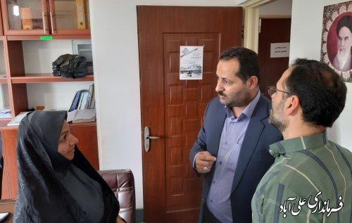 بازدید سرزده فرماندار از بنیاد مسکن انقلاب اسلامی شهرستان علی آبادکتول