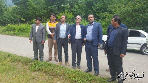 اغاز عملیات احداث بازگشایی جاده موقت روستای میان رستاق