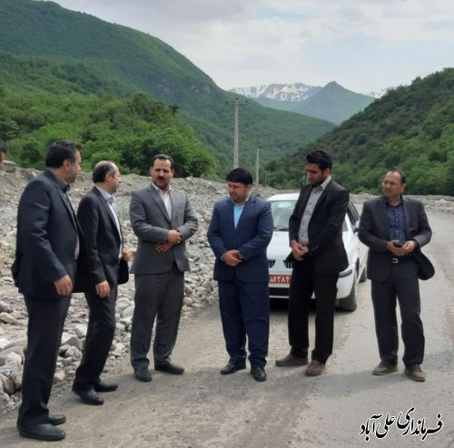 بازدید فرماندار و مدیرعامل گاز استان از پروژه های گازرسانی روستاهای دهنه محمدآبادکتول