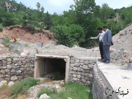 بازدید فرماندار از جاده روستای نرسو