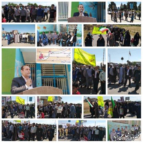 حضور حماسی مردم روستای شیرنگ علیا در راهپیمایی روز جهانی قدس
