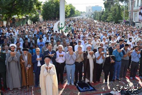 اقامه نماز باشکوه عیدسعید فطر در شهرستان علی آبادکتول