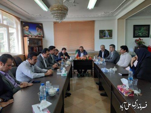 برگزاری جلسه داخلی کارکنان فرمانداری شهرستان علی آبادکتول