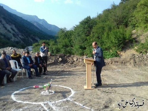 برگزاری آئین کلنگ زنی پروژه گاز رسانی به روستاهای سیاه مرزکوه و وسیع سر
