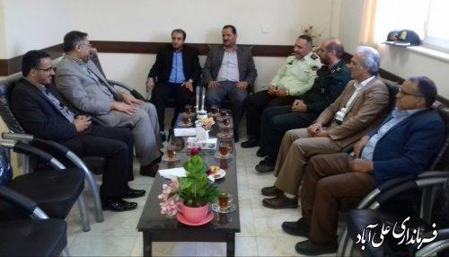 حضور فرماندار در دادگستری شهرستان علی آبادکتول