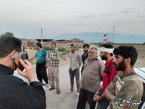وصل مجدد آب شرب روستای امام آباد بخش مرکزی