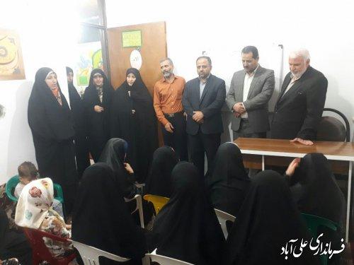 بازدید فرماندار از مرکز جامعه القرآن شهرستان علی آبادکتول