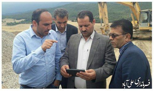 بازدید فرماندار از روند اجرای پروژه های آب و خاکی مدیریت جهادکشاورزی