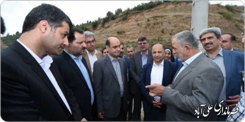 بازدید دکتر حق شناس استاندار گلستان از سد مخزنی کبودوال