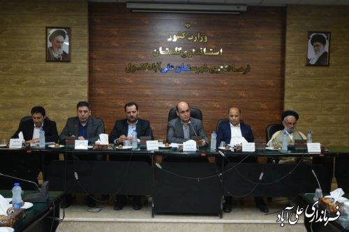 برگزاری جلسه شورای اداری شهرستان علی آبادکتول با حضور دکتر حق شناس استاندار گلستان