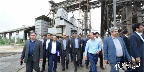 بازدید دکتر حق شناس استاندار گلستان از کارخانه خاوردشت
