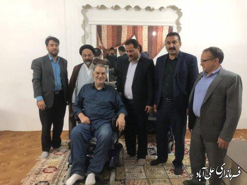 دیدار فرماندار شهرستان علی آبادکتول با دو جانباز پرافتخار دفاع مقدس