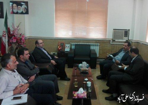 دیدار مدیرکل نوسازی، توسعه و تجهیز مدارس استان گلستان با فرماندار شهرستان علی آبادکتول